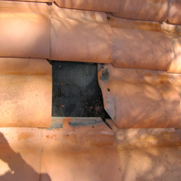 Roof Tile Before Replacement